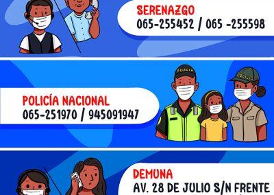 Números en caso de emergencia – Punchana