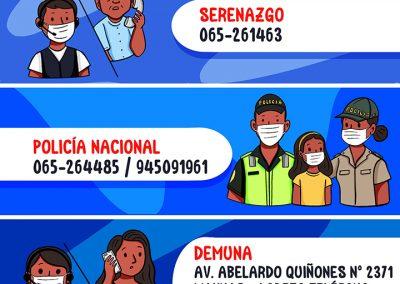 Números en caso de emergencia – San Juan Bautista